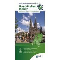 ANWB Fietsknooppuntenkaart 21 Noord-Brabant Midden