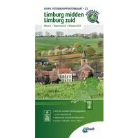ANWB Fietsknooppuntenkaart 23 Limburg Midden - Zuid