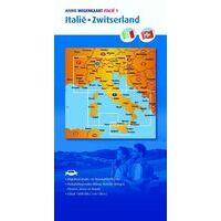 ANWB Wegenkaart 1 Italië / Zwitserland