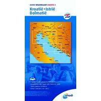 ANWB Wegenkaart 5 Kroatië Istrië Dalmatië