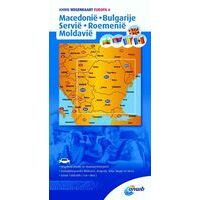 ANWB Wegenkaart 6 Macedonië Bulgarije Servië