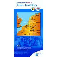 ANWB Wegenkaart België Luxemburg