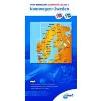 ANWB Wegenkaart Noorwegen Zweden