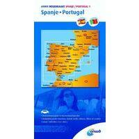 ANWB Wegenkaart Spanje Portugal