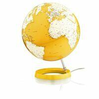 Atmosphere Globes Wereldbol Globe Light & Colour Yellow 30 Cm