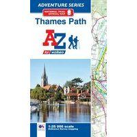 AZ Maps Thames Path Adventure Atlas