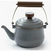 Barebones Enamel Teapot Stone Gray