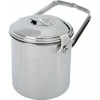 BasicNature Stainless Steel Pot 'billy Can' 1.4 Liter