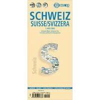 Borch Maps Zwitserland Wegenkaart 1:400.000