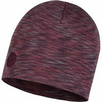 Buff Heavyweight Merino Wool Hat Shale Grey Multi Strip