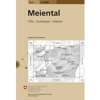 Bundesamt - Swisstopo Topografische Kaart 1211 Meiental