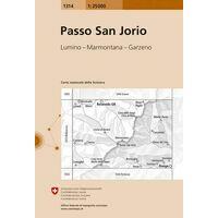 Bundesamt - Swisstopo Topografische Kaart 1314 Passo San Jorio