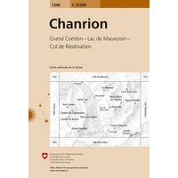 Bundesamt - Swisstopo Topografische Kaart 1346 Chanrion
