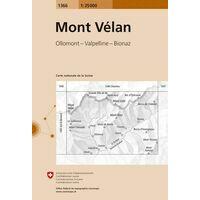 Bundesamt - Swisstopo Topografische Kaart 1366 Mont Vélan