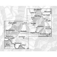 Bundesamt - Swisstopo Topografische Wandelkaart 3306T Zermatt Saas-Fee
