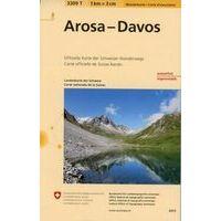 Bundesamt - Swisstopo Topografische Wandelkaart 3309T Arosa - Davos