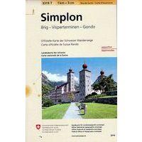 Bundesamt - Swisstopo Topografische Wandelkaart 3319T Simplon