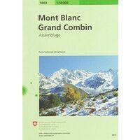 Bundesamt - Swisstopo Topografische Kaart 5003 Mont Blanc - Grand Combin