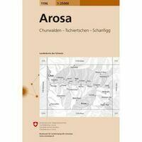 Bundesamt - Swisstopo Topografische Kaart 1196 Arosa