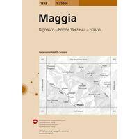 Bundesamt - Swisstopo Topografische Kaart 1292 Maggia