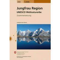Bundesamt - Swisstopo Topografische Kaart 2520 Jungfrau Region