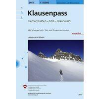 Bundesamt - Swisstopo Skitoerkaart 246S Klausenpass