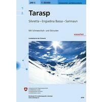 Bundesamt - Swisstopo Skitoerkaart 249S Tarasp