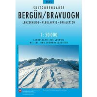 Bundesamt - Swisstopo Skitoerkaart 258S Bergün