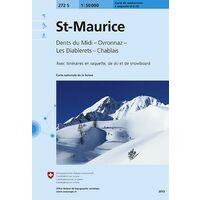 Bundesamt - Swisstopo Skitoerkaart 272S St-Maurice