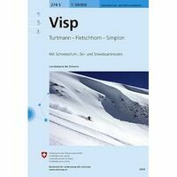 Bundesamt - Swisstopo Skitoerkaart 274S Visp
