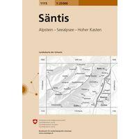 Bundesamt - Swisstopo Topografische Kaart 1115 Santis