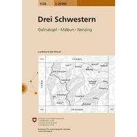 Bundesamt - Swisstopo Topografische Kaart 1136 Drei Schwestern