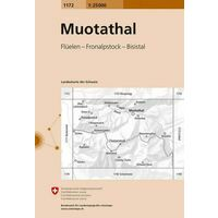 Bundesamt - Swisstopo Topografische Kaart 1172 Muothatal
