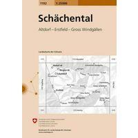Bundesamt - Swisstopo Topografische Kaart 1192 Schächental