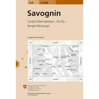 Bundesamt - Swisstopo Topografische Kaart 1236 Savognin