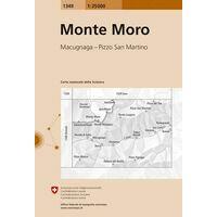 Bundesamt - Swisstopo Topografische Kaart 1349 Monte Moro