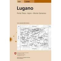 Bundesamt - Swisstopo Topografische Kaart 1353 Lugano