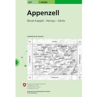 Bundesamt - Swisstopo Topografische Kaart 227 Appenzell
