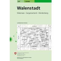 Bundesamt - Swisstopo Topografische Kaart 237 Walenstadt