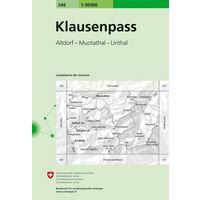 Bundesamt - Swisstopo Topografische Kaart 246 Klausenpass
