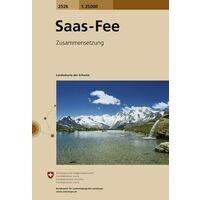 Bundesamt - Swisstopo Topografische Kaart 2526 Saas-Fee