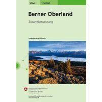 Bundesamt - Swisstopo Topografische Kaart 5004 Berner Oberland