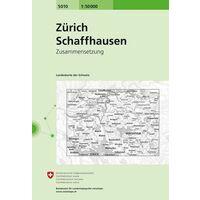 Bundesamt - Swisstopo Topografische Kaart 5010 Zürich - Schaffhausen