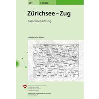 Bundesamt - Swisstopo Topografische Kaart 5011 Zürichsee - Zug