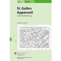 Bundesamt - Swisstopo Topografische Kaart 5014 Sankt Gallen - Appenzell