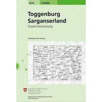 Bundesamt - Swisstopo Topografische Kaart 5015 Toggenburg - Sarganserland
