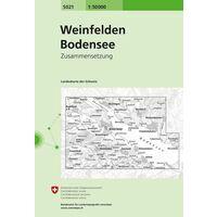 Bundesamt - Swisstopo Topografische Kaart 5021 Weinfelden - Bodensee