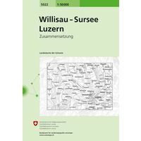 Bundesamt - Swisstopo Topografische Kaart 5022 Willisau - Sursee - Luzern