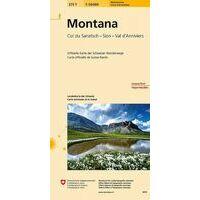 Bundesamt - Swisstopo Topografische Wandelkaart 273T Montana