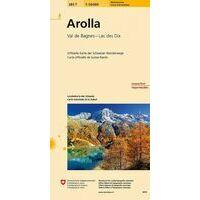 Bundesamt - Swisstopo Topografische Wandelkaart 283T Arolla